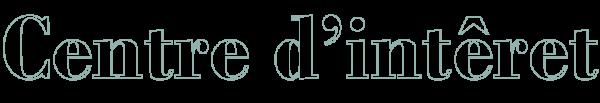 Image texte centre d'intérêt